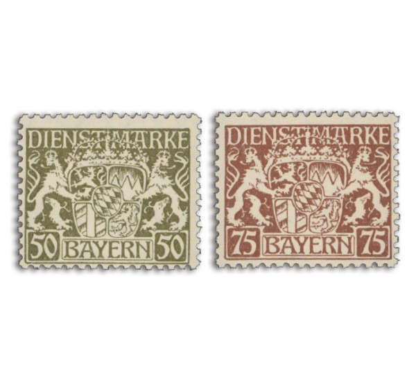 Bayern Dienstmarken MiNr. 39I + 41I **