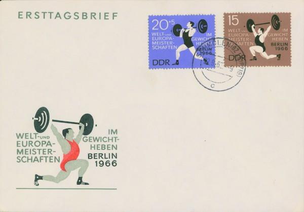 DDR FDC MiNr. 1210/11 Gewichtheben