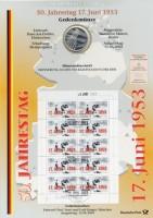 BRD Numisblatt 3/2003 50 Jahre Volksaufstand vom 17. Juni 1953