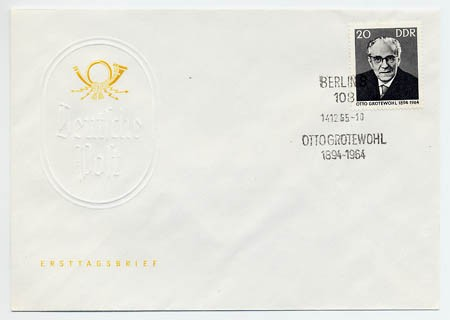 DDR FDC MiNr. 1153 1. Tdtg. Grotewohls