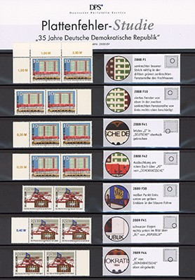 DDR MiNr. 2888/89 ** 35 Jahre DDR