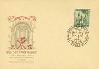 Berlin FDC Mi-Nr. 107 Wiederaufbau Gedächtniskirche Berlin