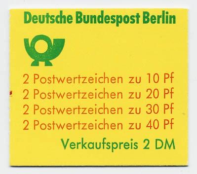Berlin MH 9dII ** mZ Unfallverhütung 1974 weiter Durchstich