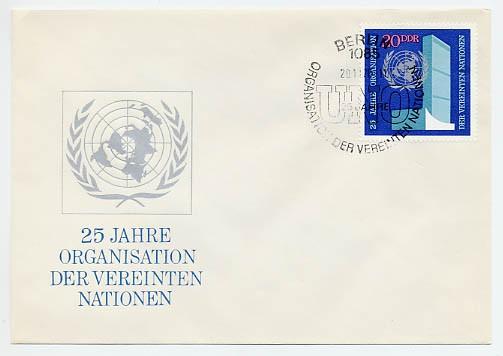 DDR FDC MiNr. 1621 25 J. UNO