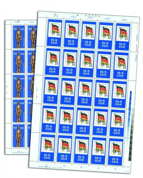 DDR Bogensatz MiNr. 1613/14 ** inkl.Sammelblätter Briefmarkenausstellung der Jugend, Chemnitz