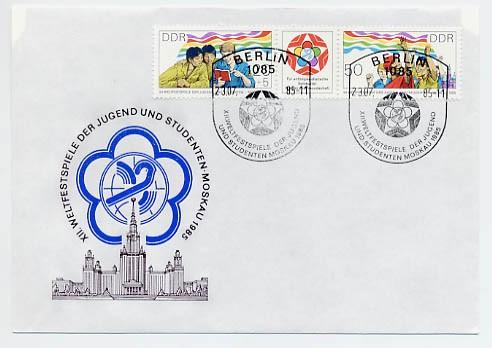 DDR FDC MiNr. 2959/60 Zdr. Weltfestspiele der Jugend