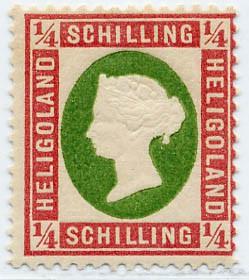 Helgoland MiNr. 8c * 1/4 Schilling - nicht verausgabt!