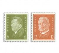 """Dt. Reich MiNr. 465/66 ** Dt. Reich: FM """"Reichspräsidenten"""""""