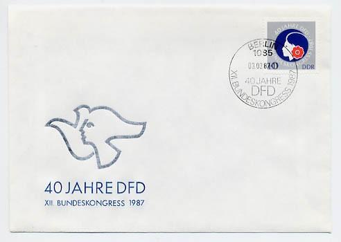 DDR FDC MiNr. 3079 40 Jahre DFD