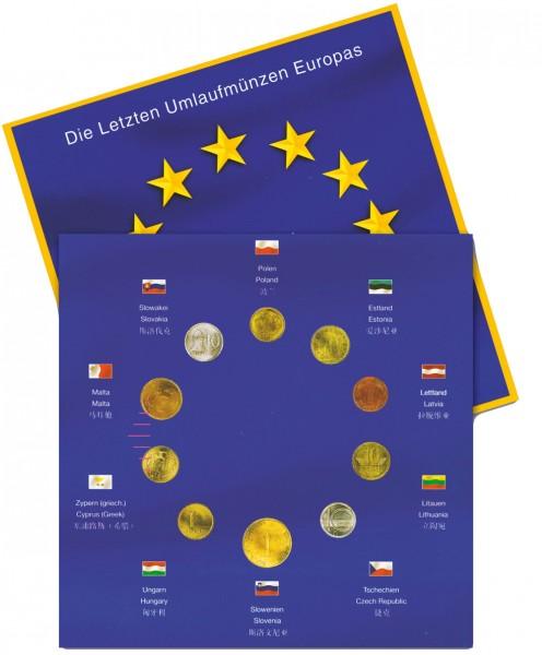 EURO-Folder mit den letzten Umlaufmünzen