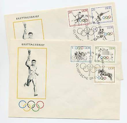DDR FDC MiNr. 1033/38 Olympische Sommerspiele Tokio 1964