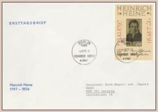 DDR FDC Bl. 37 MiNr. 1814 175. Geb. von H. Heine