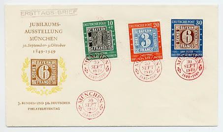 BRD FDC-BRD MiNr.113/15 100 Jahre deutsche Briefmarke